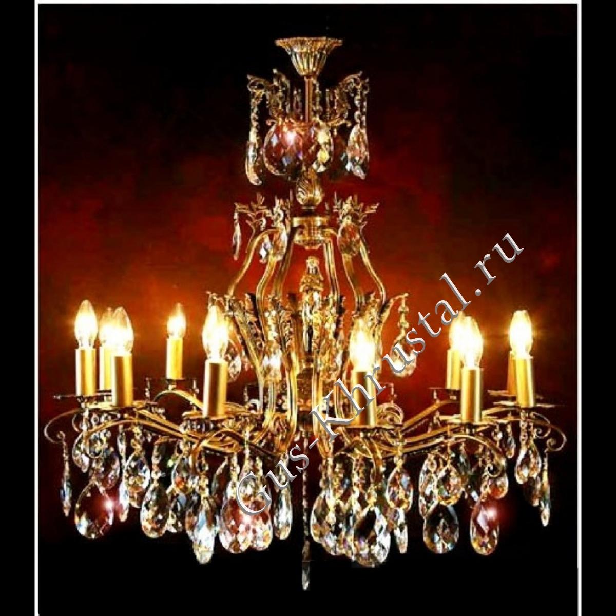 Люстра бронзовая № 6 (12 ламп)