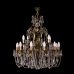 Люстра бронзовая Богиня (16 ламп)